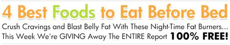 Best Foods To Eat Before Bed by Losethebackpain S Order Thank You Page