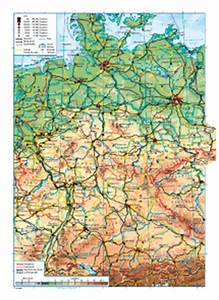 Deutschland Physische Karte : deutschland physische karte mzr kombi atlas ~ Watch28wear.com Haus und Dekorationen