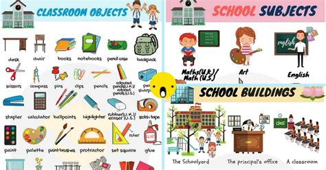 School Objects With Pictures