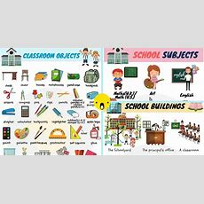 School Vocabulary Words  School Objects With Pictures 7