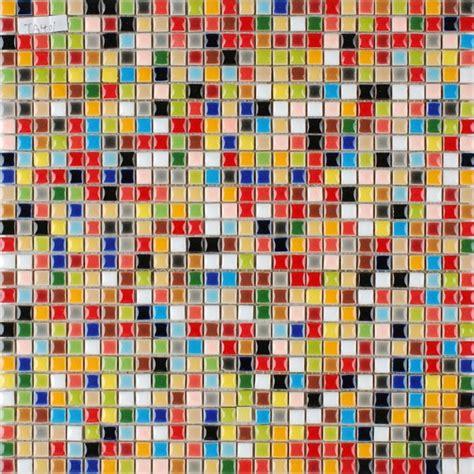 glaze porcelain mosaic tile colorful kitchen wall tiles