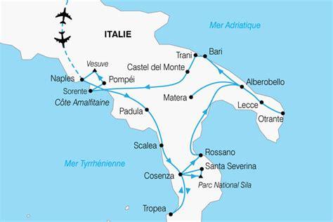 Carte Sud De Et Italie by Le Grand Sud De L Italie Circuit Italie Avec Voyages Auchan