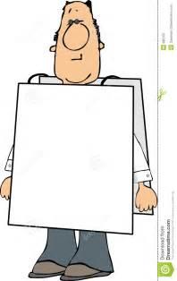 Man Wearing Blank Sign