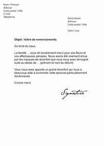 Lettre Deces : lettre de remerciement suite un d c s mod le de lettre ~ Gottalentnigeria.com Avis de Voitures