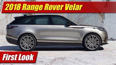 First Look 2018 Range Rover Velar Testdriventv