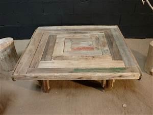Table Basse En Bois Flotté : table basse en planches de bois flott ~ Teatrodelosmanantiales.com Idées de Décoration