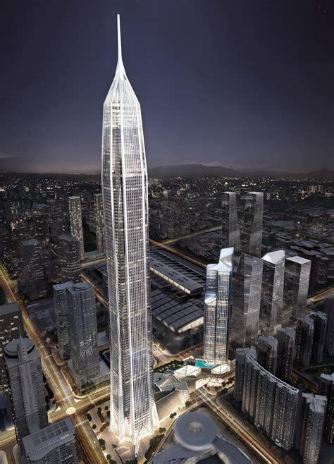chinas tallest skyscraper  construction  floor   days