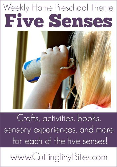 senses weekly home preschool theme senses