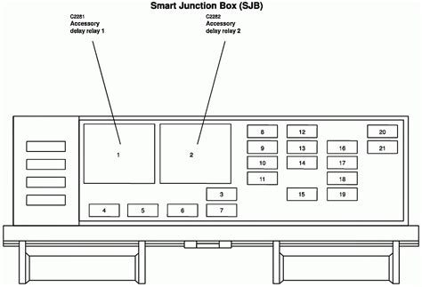 2006 Dt466 Fuse Box Location by 2006 Freestar Fuse Box Location Diagrams