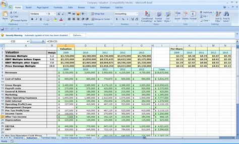 business plan template excel excel templates business