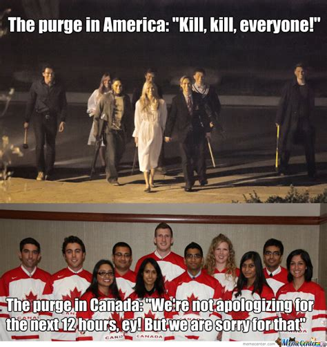 Purge Meme - the purge america vs canada by tadej hrovat meme center