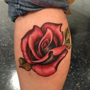 Collection of 25+ New School Rose Tattoo Photo