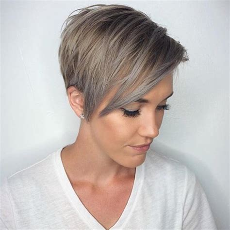 S Pixie Hairstyles by Winter Fit Extravagant Silver Pixie Haircuts Hairdrome