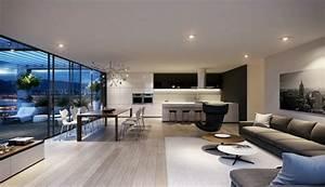 deco maison cuisine ouverte With idee deco cuisine avec decoration salle À manger et salon