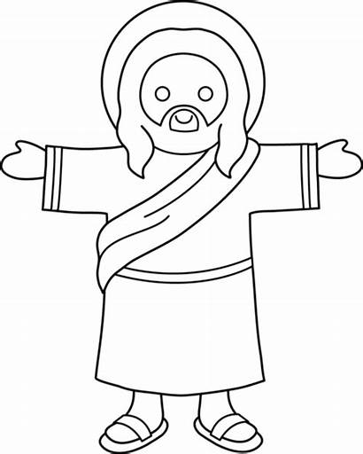 Jesus Clip Coloring Sweetclipart Sweet