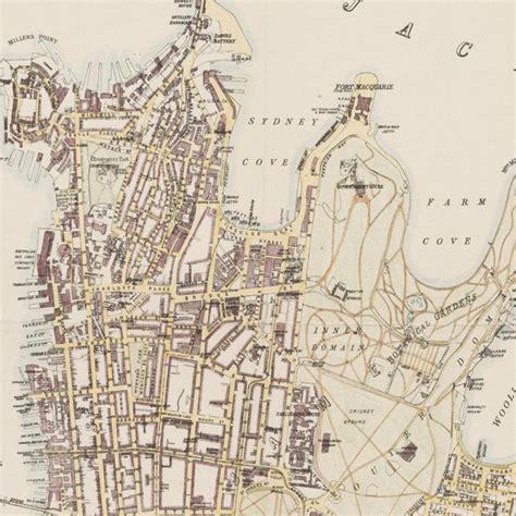 map  sydney australia   maps  vintage prints