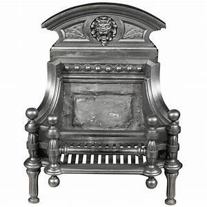Antique Cast Iron Victorian Fire Basket In The Baroque
