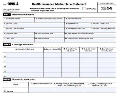 health insurance form 1095 b form 1095 a 1095 b 1095 c and instructions obamacare