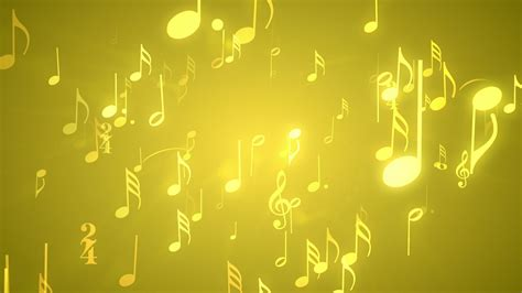 musical notes gold downloops creative motion backgrounds