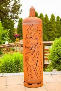 Feuerstelle Aus Gasflaschen : edelrost feuers ule gasflasche drache angels garden dekoshop ~ A.2002-acura-tl-radio.info Haus und Dekorationen