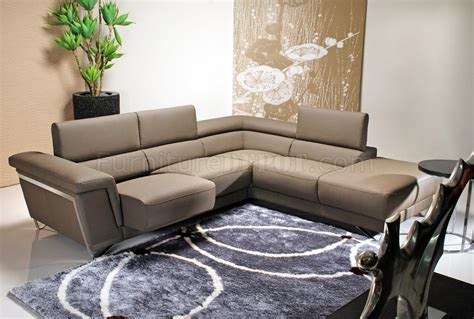Light Brown Leather Sectional by Light Brown Leather Modern Sectional Sofa W Chrome Legs