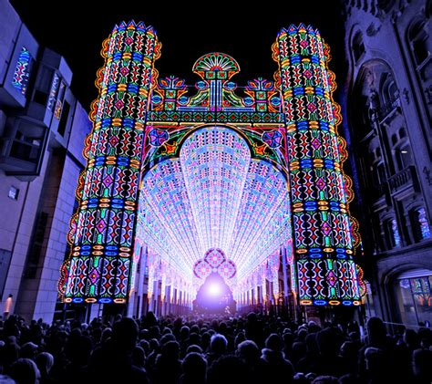 light festival ghent belgium  cool hunter