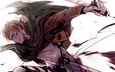 wallpaper erwin smith shingeki  kyojin anime boys