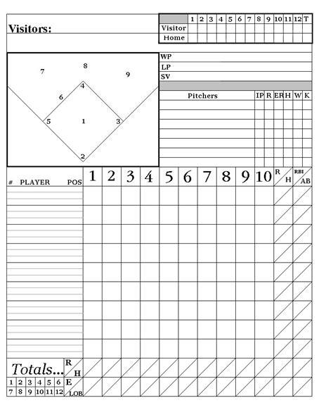 jim keeping baseball score