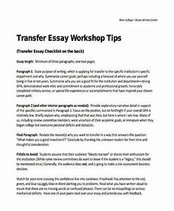 Science Essay Topic How To Write A College Transfer Essay Process Essay Thesis also Essays For High School Students Sample College Transfer Essay Examples Of Dissertation Proposals How  How To Write An Essay Proposal Example