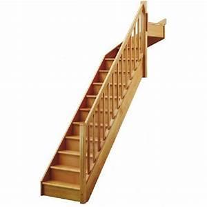 Escalier Droit Bois : escalier quart tournant haut droit soft classic structure ~ Premium-room.com Idées de Décoration