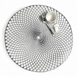 Set De Table Argenté : linge de table maisons du monde ~ Teatrodelosmanantiales.com Idées de Décoration