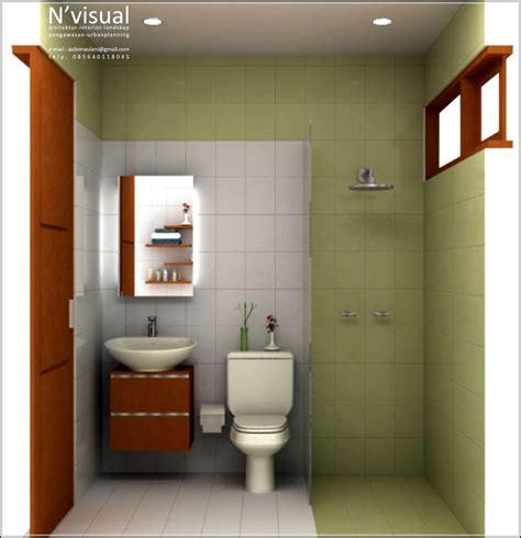 desain kamar mandi sempit minimalis ukuran kecil