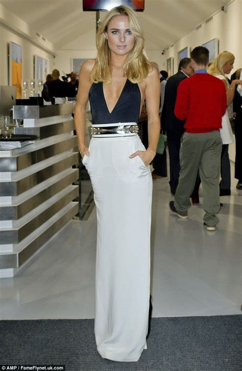 Kimberley Garner in plunging dress at Julio Larrazu0026#39;s Rules of Engagement art exhibition | Daily ...