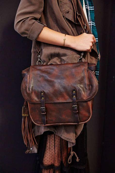 Veronica Frye Leather Messenger Bag