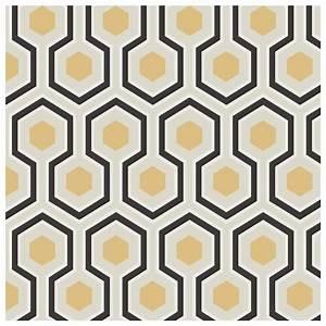 Papier Peint Noir Et Doré : papier peint dor e et noir hick s hexagon ~ Melissatoandfro.com Idées de Décoration