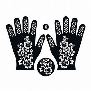Henna Tattoo Schablonen : henna schablone tattoo hennaschablone hand 3teilig 61 oriental style ~ Frokenaadalensverden.com Haus und Dekorationen