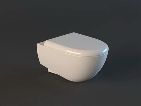 residential wall hung toilet  model ds max files   modeling   cadnav