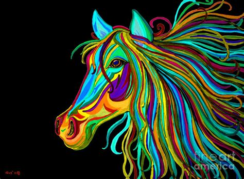 colorful horse head  drawing  nick gustafson
