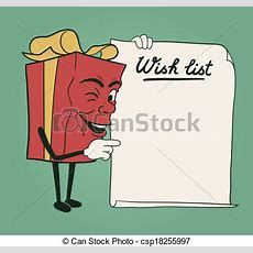 Christmas Wish List  Royalty Free Vector Graphic Csp18255997