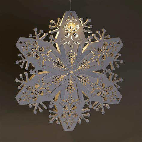 large white hanging snowflakes