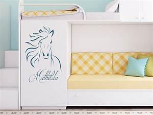 Wandtattoo Name Kind : wandtattoo elegantes pferd mit name von ~ Sanjose-hotels-ca.com Haus und Dekorationen