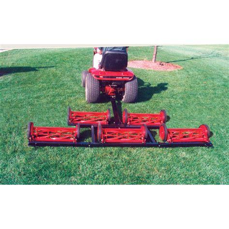 pro mow  gang reel mower ft  cutting width