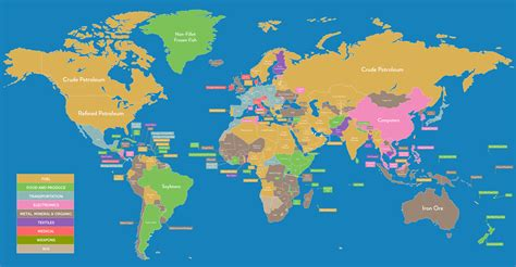 giant map shows  top export   country