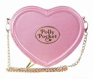 Pink Polly Pocket Heart Shaped Cross Body Bag