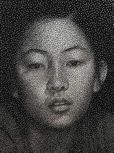 remarkable portraits made with a single sewing thread