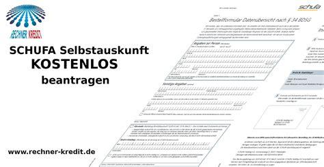 Schufa Auskunft Für Vermieter Kostenlos by Kostenlose Schufa Auskunft