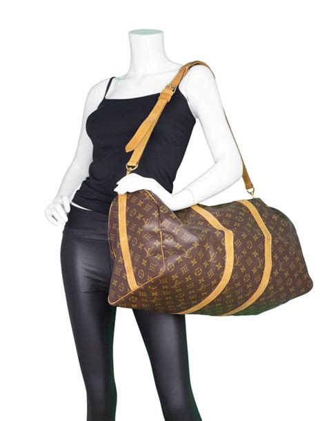 louis vuitton monogram bandouliere keepall  duffle bag