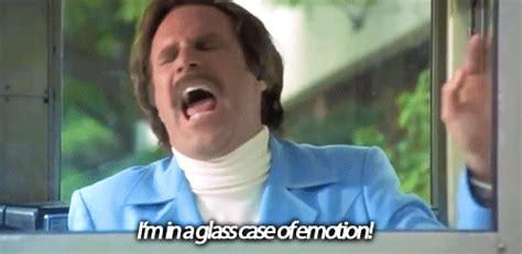 anchorman i l quote i m in a glass of emotion gifs