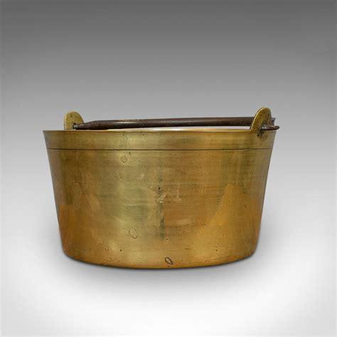 antique jam pan french solid brass artisan kitchen pot victorian circa   sale  stdibs