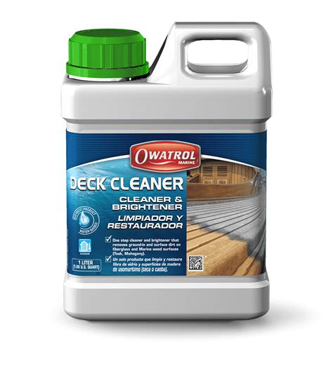 clean deck with chlorine deck cleaner cleaner and brightener for marine wood